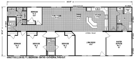 sectional mobile home floor plan the 6806 view select