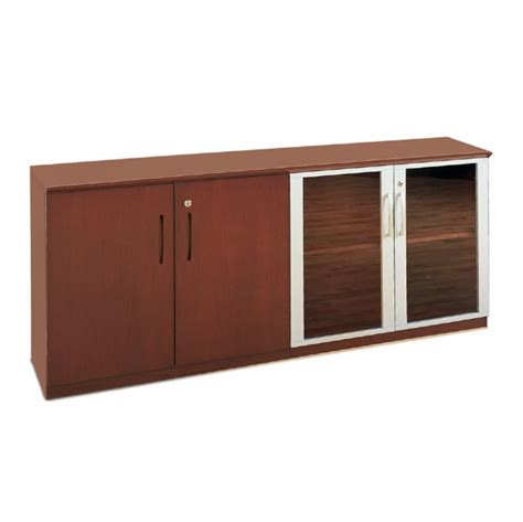 Low Storage Cabinet With Doors Napoli Low Wall Cabinet With Doors Wood Glass Door Combination