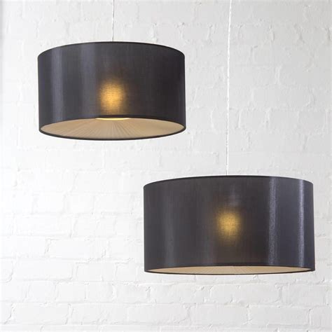 Black Ceiling Light Shade by Large Ribbon Drum Easy To Fit Ceiling Shade Black From