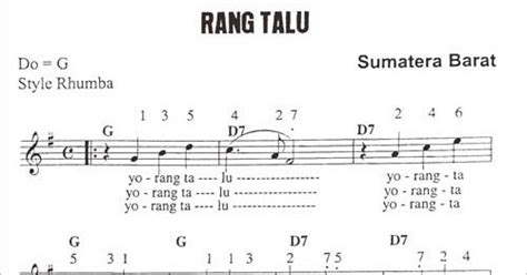 lirik lagu rang talu beserta  angka chord gitar  terjemahannya