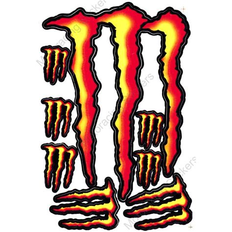 Monster Aufkleber Orange by Mrs1052 Orange M0nster Energy Decals Stickers Motorcycle
