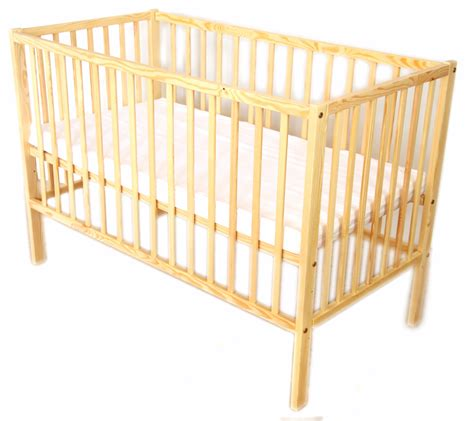 Baby Wooden Bed Baby Cot Wooden Bed Naturall Pine Option Mattress