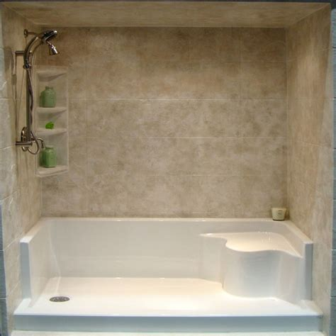 convert bathtub to shower stall shower stall insertwith bench seat viendoraglass com