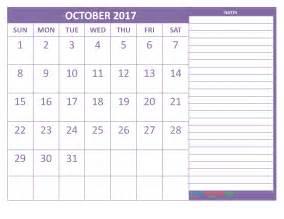 Calendar 2018 Printable Philippines Printable October 2017 Calendar Template Starts On Sunday