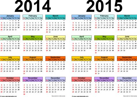 100 annual calendar template excel calendars 2014 2015 as
