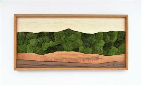 green wall decor green mountain moss wall art sugar maple cherry walnut