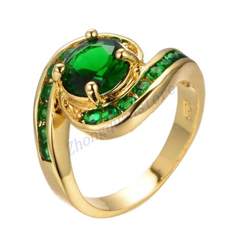 size 7 8 9 green emerald wedding ring s 10kt