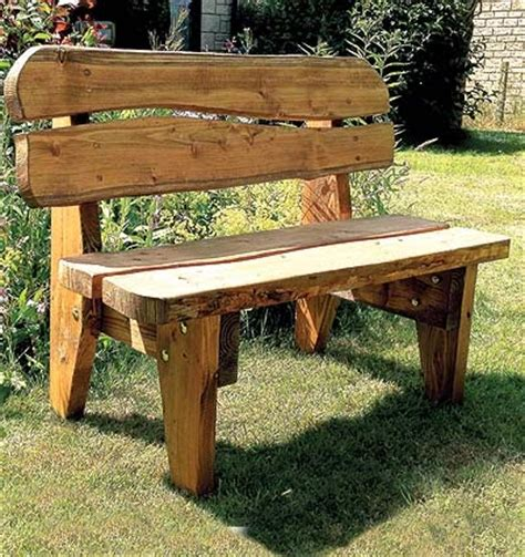 Handmade Garden Bench - celtic forest