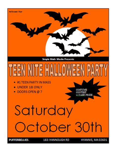 Template Flyer Halloween | halloween party flyer template microsoft word templates