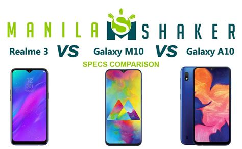 Realme 3 Vs Samsung A10 by Realme 3 Vs Galaxy M10 Vs Galaxy A10 Specs Comparison Same Price One Winner