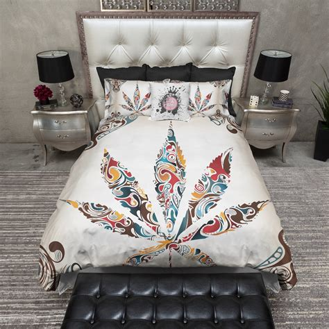 marijuana comforter set artistic cannabis marijuana weed leaf bedding ink and rags