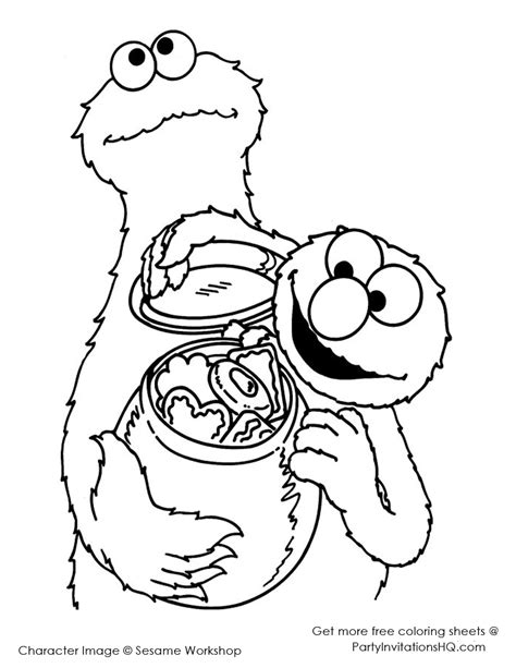 cookie monster coloring pages to download and print for free