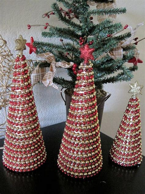 silver sparkling mesh beaded cone tree items similar to beaded garland cone trees set of 3 sparkle and