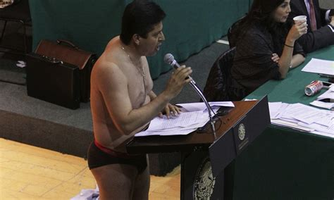 isis in mexico feds deny watchdog groups claim that the mexican congressman takes off his clothes in angry protest