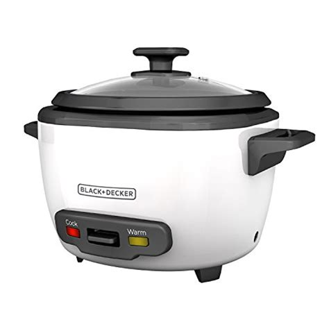 Rice Cooker Kick On black decker 3 cup cooked 1 5 cup uncooked rice cooker single serve white rc503 11street