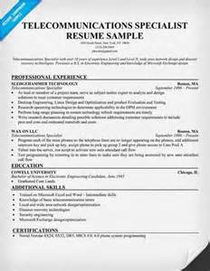 Telecommunications Specialist Cover Letter by Telecom Resume Writers