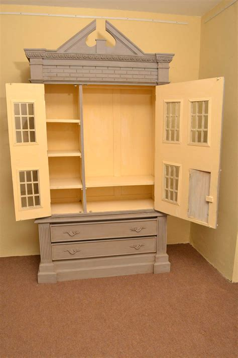 Regent Antiques Cabinets Vintage English Dolls House Wardrobe Shabby Chic