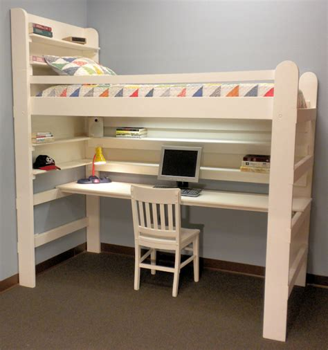 Loft bed with desk home decorating ideas
