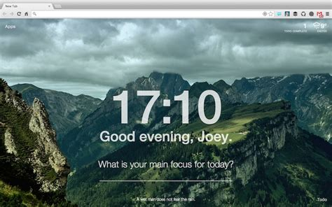 Theme Chrome Momentum | momentum adds inspiration and focus to chrome s new tab
