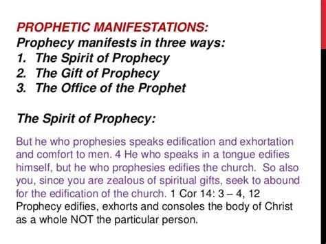 edification exhortation and comfort introduction to the prophetic ministry