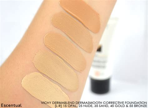 Makeover Corrective Base Makeup vichy dermablend fluid corrective foundation swatch