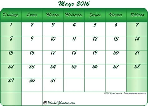 almanaque mayo 2016 mes de mayo 2016 calendarios en im 225 genes para descargar