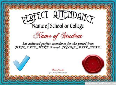 25 Best Ideas About Attendance Certificate On Pinterest Certificate Of Completion Template Attendance Award Template