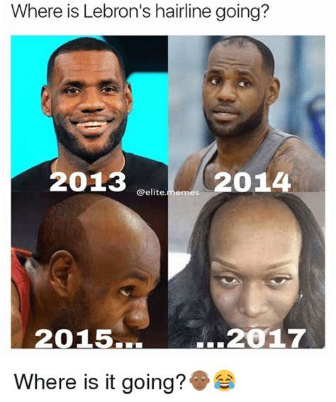 Lebron James Hairline Meme - messed up hairline lebron www pixshark com images