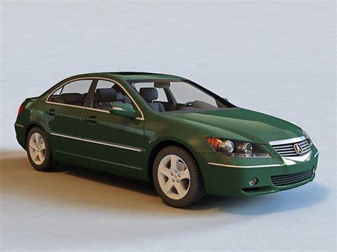 acura rl sedan car 3d model 3ds max files free