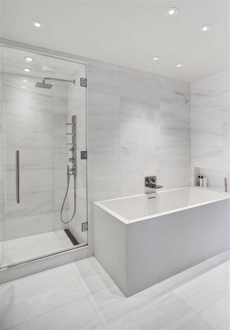 Modern White Tile Bathroom Best 25 Marble Tile Bathroom Ideas On Pinterest Marble Tile Shower Bathroom Flooring And