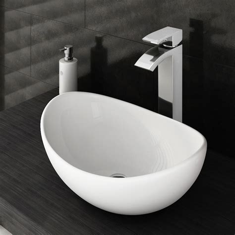 bathroom basin tops summit high rise waterfall basin mixer with counter top