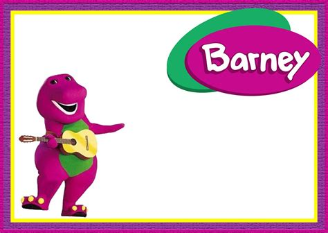 barney the dinosaur party invitation template
