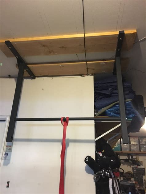 Garage Pull Up Bar Ceiling by Mounting A Pull Up Bar To Engineered Beams Tji Floor