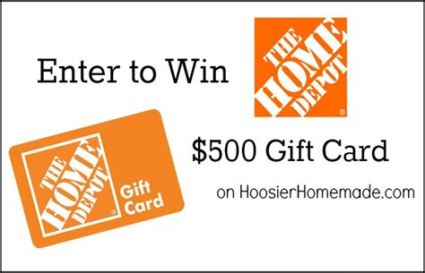 home depot 500 gift card giveaway hoosier