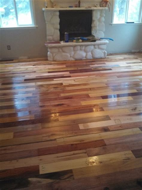 diy project pallet wood floor page  home design