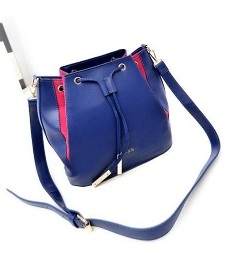 Tas Import C90770 Blue Leather Bag Fashion Korea Rainbow Sling Bag fashion bags bj4463 blue tas import bj4463 blue