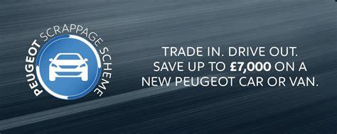 peugeot lease scheme new peugeot scrappage scheme offers