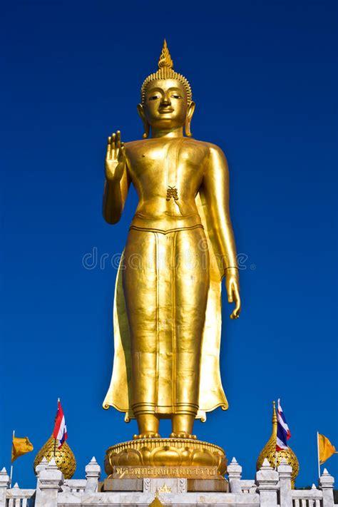 standing buddha statue stock image image