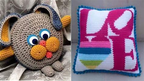cojines con rosas a crochet cojines o almohadones tejidos en crochet y dos agujas