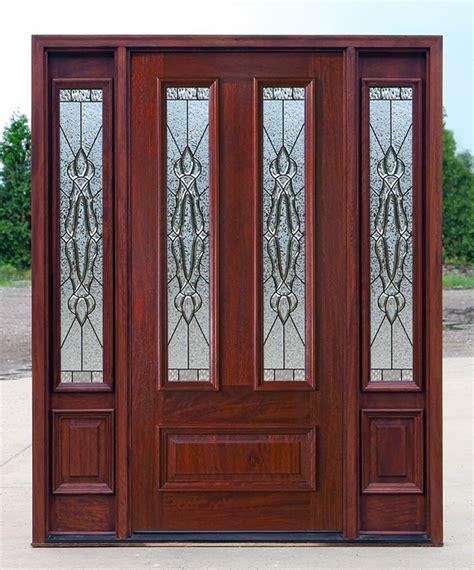 Exterior Doors Sidelights Exterior Doors With Sidelights Solid Mahogany Entry Doors