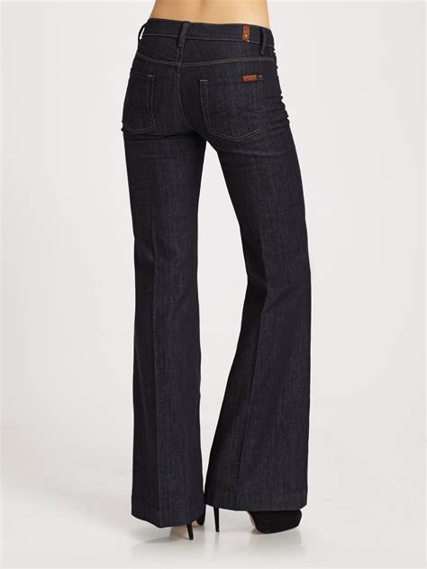 lyst    mankind ginger wide leg jeans  blue