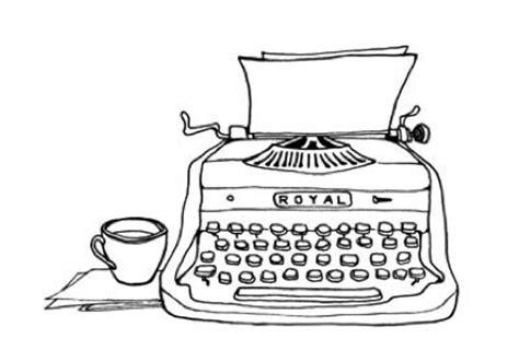 Typewriter Drawing Easy