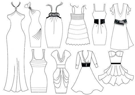 clothes coloring page clothing pages on flamenco dress