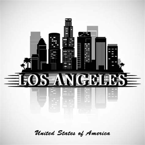 Los Angeles Background Check Los Angeles City Background Vector Free Vector In