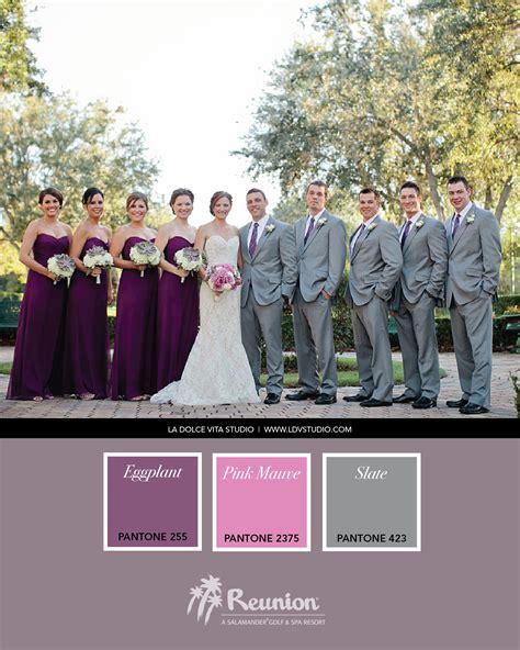 plum wedding colors wedding color palette purple pink gray wedding
