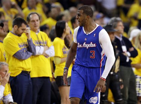 chris paul bench press nba playoffs blake griffin chris paul lead clippers past