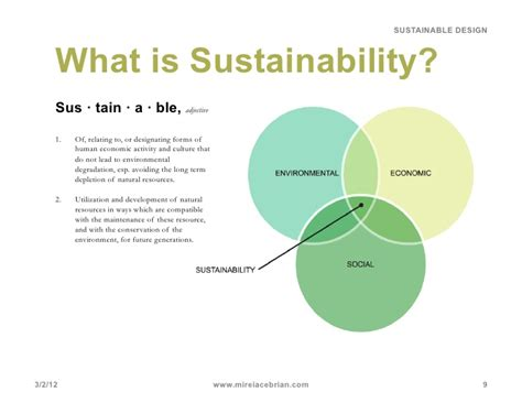 Sustainability Is by Sustainable Design What Is Sustainability