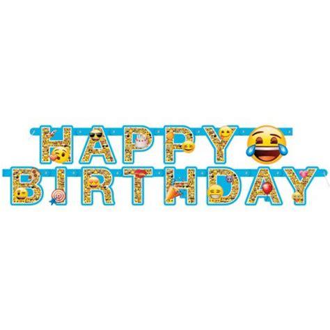 printable emoji banner emoji birthday banner 6 ft 1ct walmart com