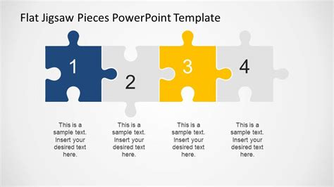 4 Step Powerpoint Diagram Created With Jigsaw Pieces Jigsaw Template For Powerpoint