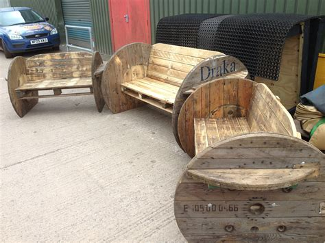 wire spool bench pallet and cable drum benches 1001 pallets id